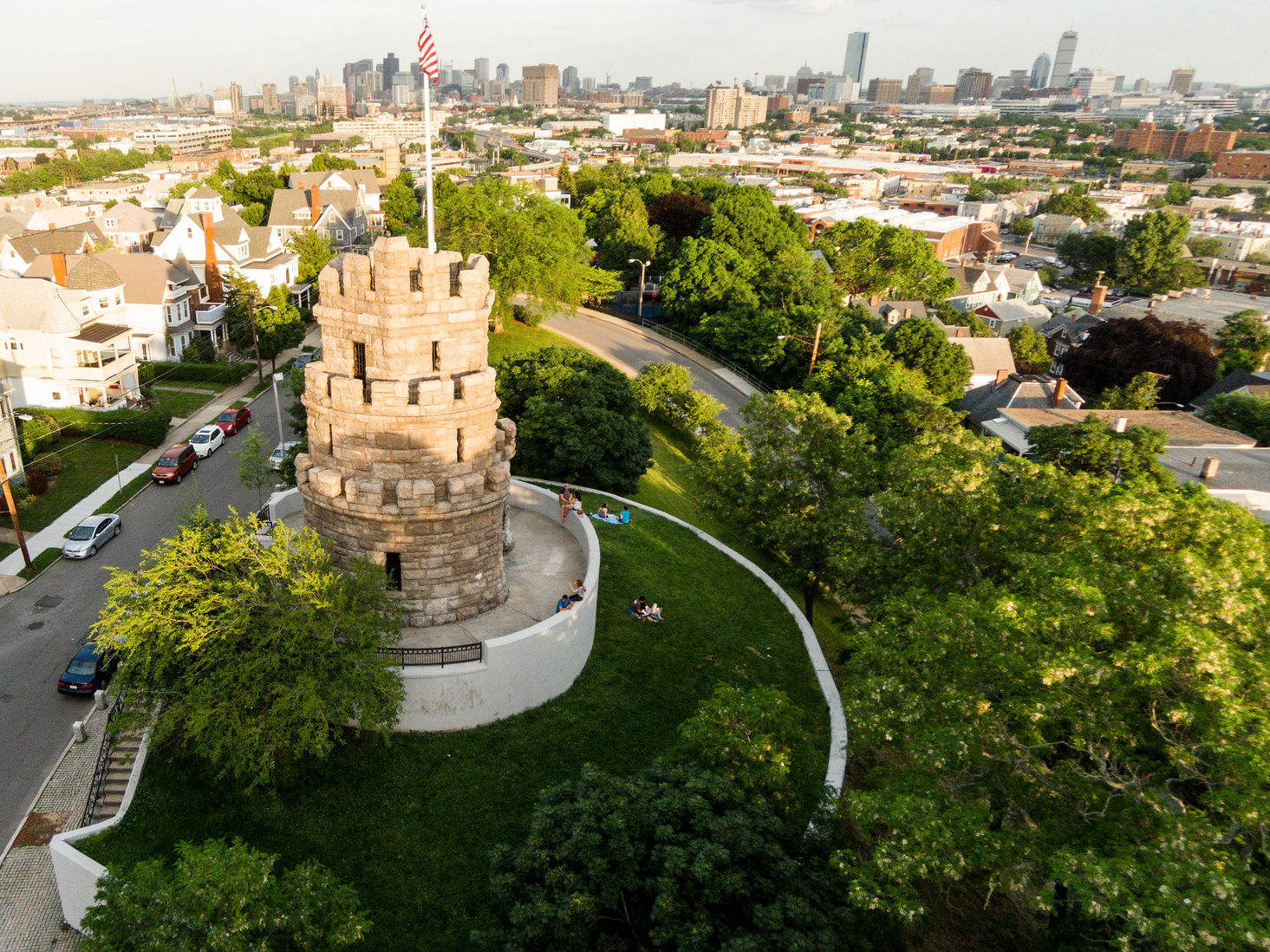 Aerial image of Prospect Hill Tower and Park