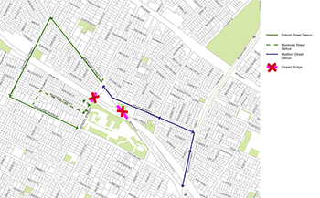 School St. Bridge Detour Map