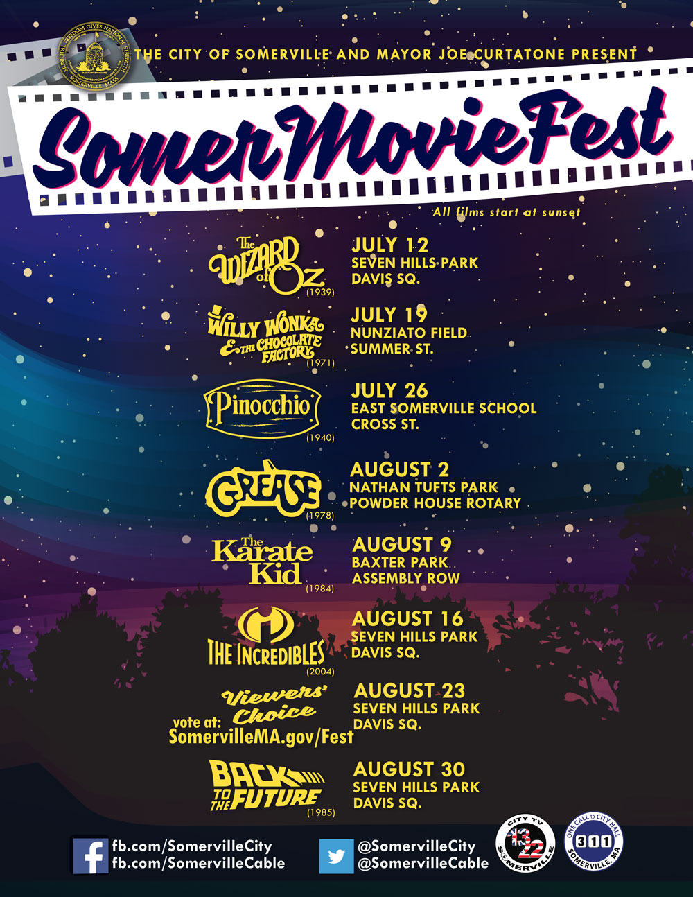 SomerMovie Fest flyer