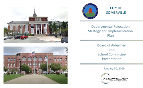 Presentation of Departmental Relocation Strategy and Implementation Plan to Board of Aldermen and School Committee