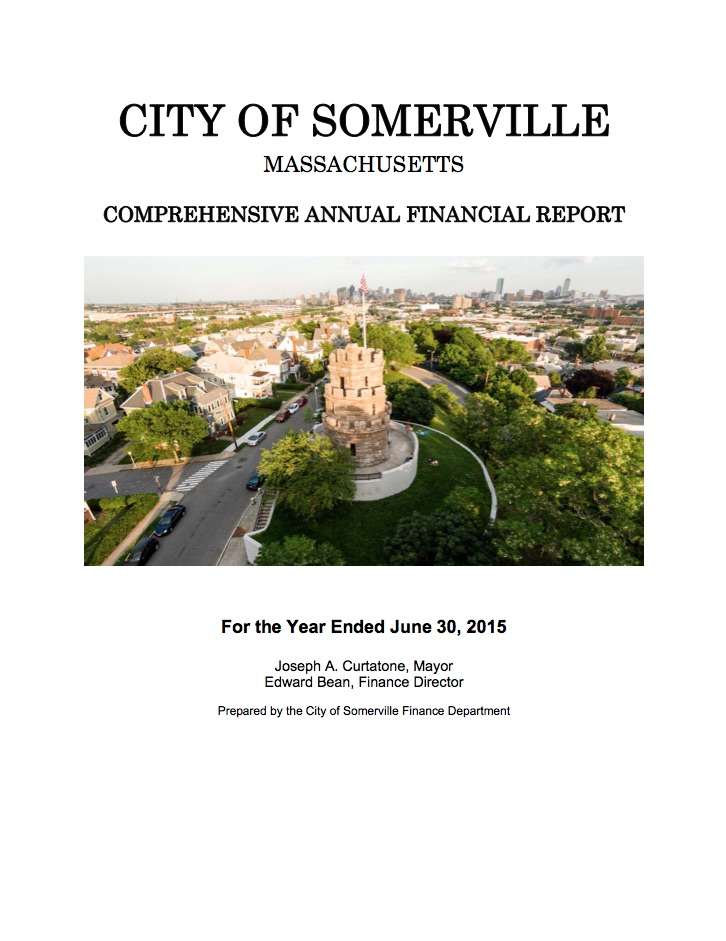 Preview of Comprehensive Annual Finance Report document