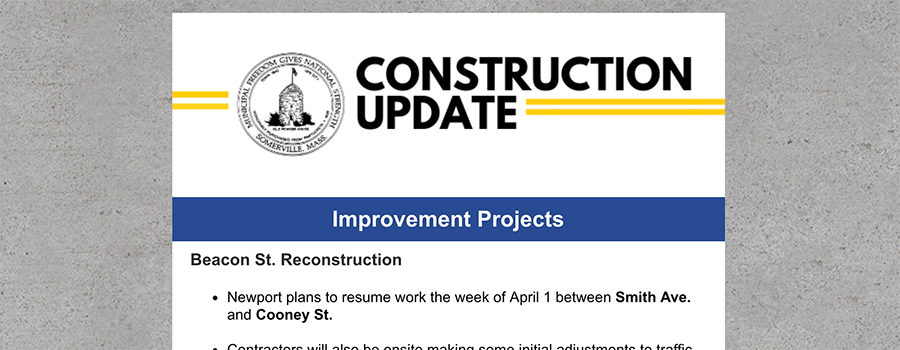 Weekly construction eNewsletter