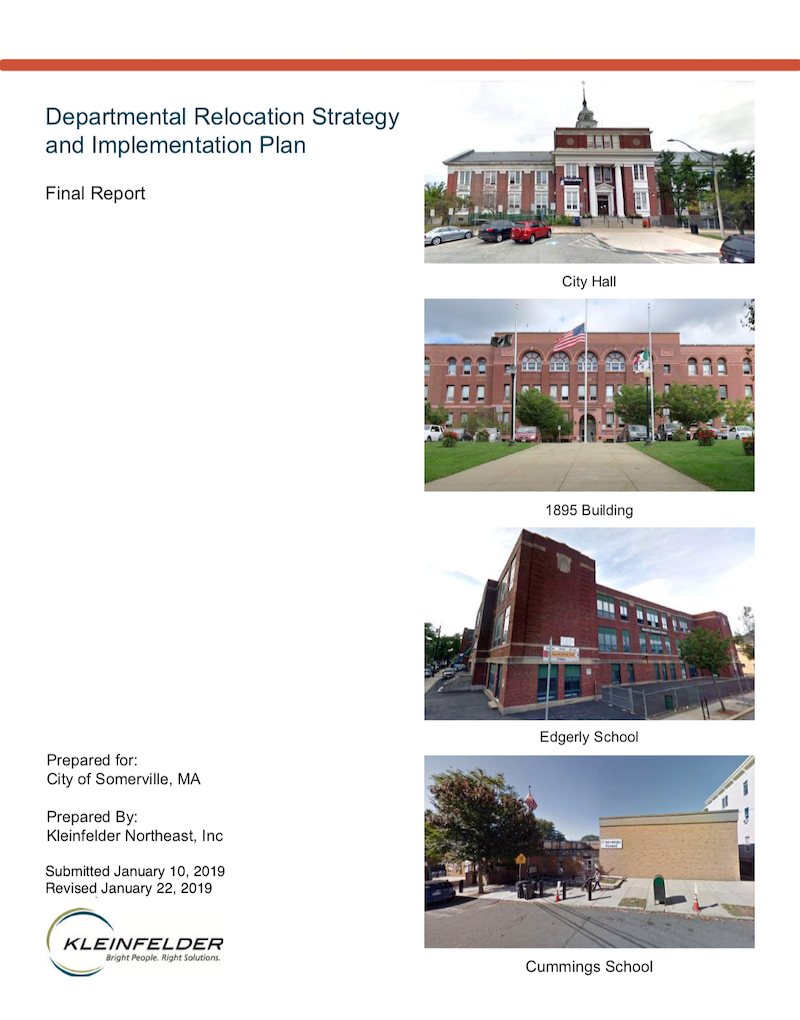 Departmental Relocation Strategy and Implementation Plan Report