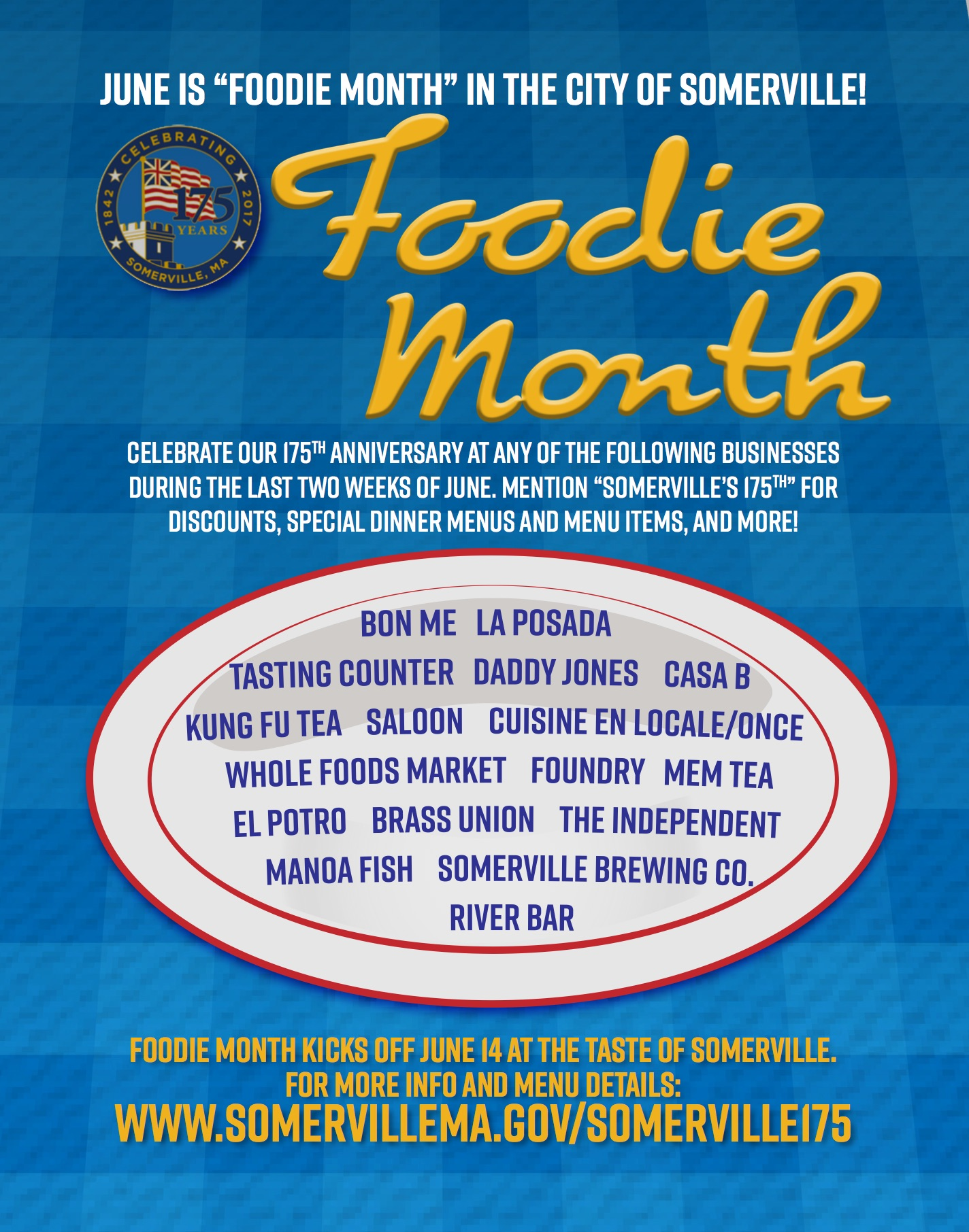 PDF preview links to Foodie Month flyer