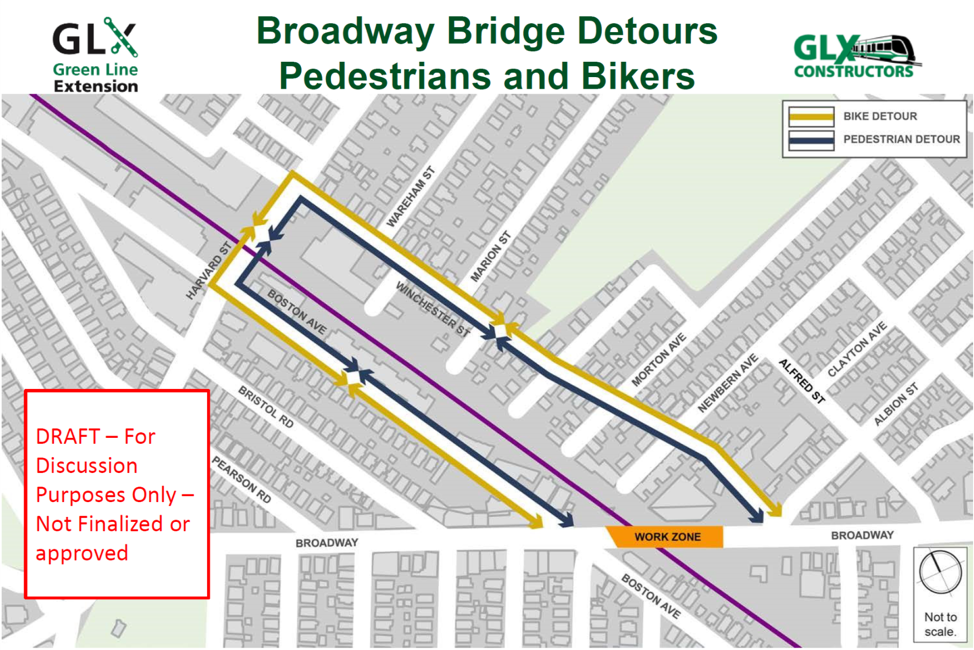 Bike and pedestrian detours on Broadway