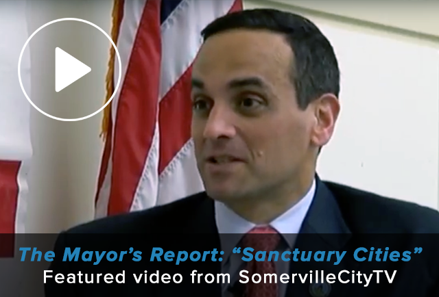 Video thumbnail shows Mayor Curtatone delivering the Mayor's Report