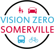 VisionZero logo showing images of traffic participants