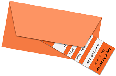 Parking ticket illustration