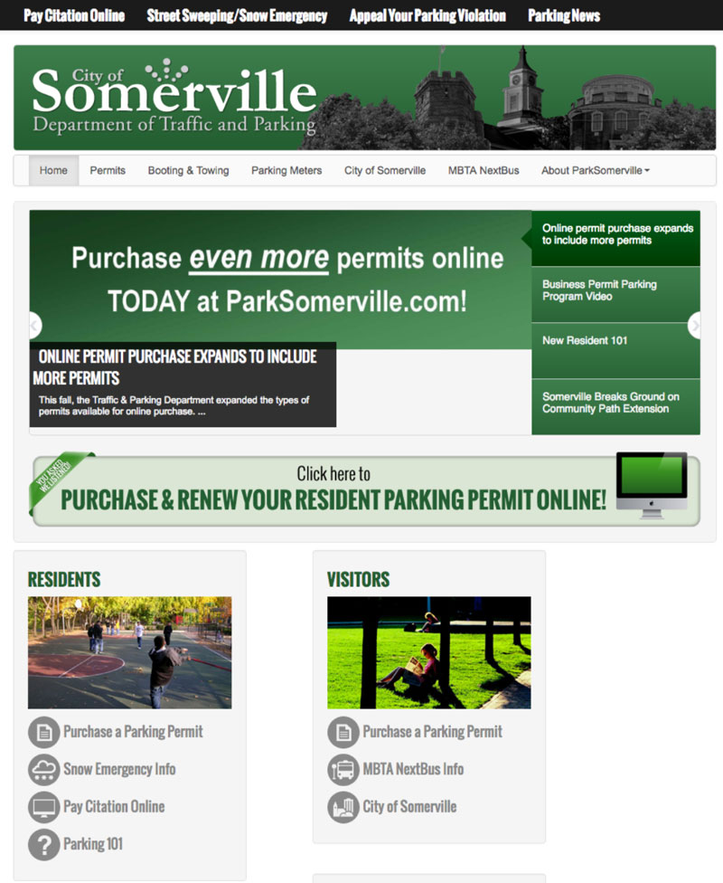 Visit The Traffic And Parking Departments Website To