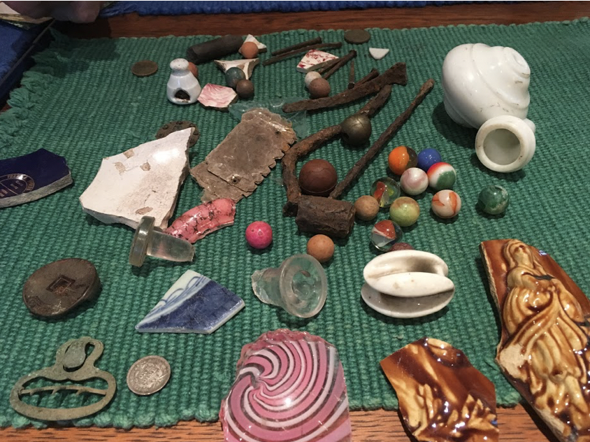 Artifacts uncovered during the preservation process