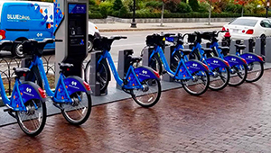 Boston Bluebikes station