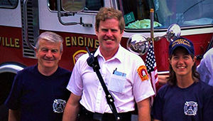 The Fighting Fourth FF Leo Crowe Captain Dennis Murphy and FF Christine Guelpa
