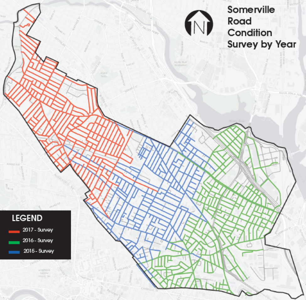 Somerville road condition survey by year