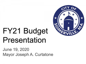 Thumbnail preview links to mayor's budget presentation slides