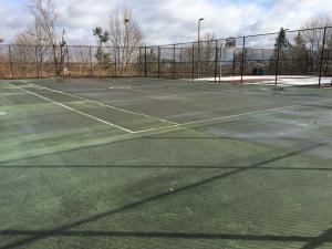 Healey Schoolyard tennis court