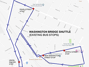 Washington St. Bridge Hopper map
