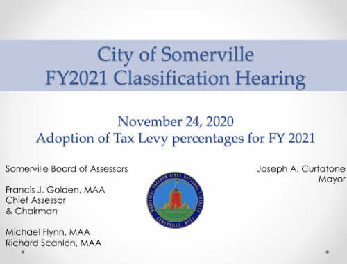 Assessor's FY21 Classification Hearing Slides