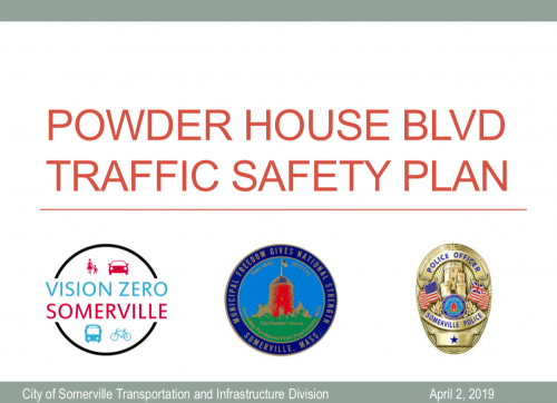 Powder House Blvd. Traffic Safety Plan