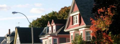 Row of Somerville houses