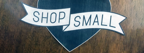 """Shop Small"" sign"
