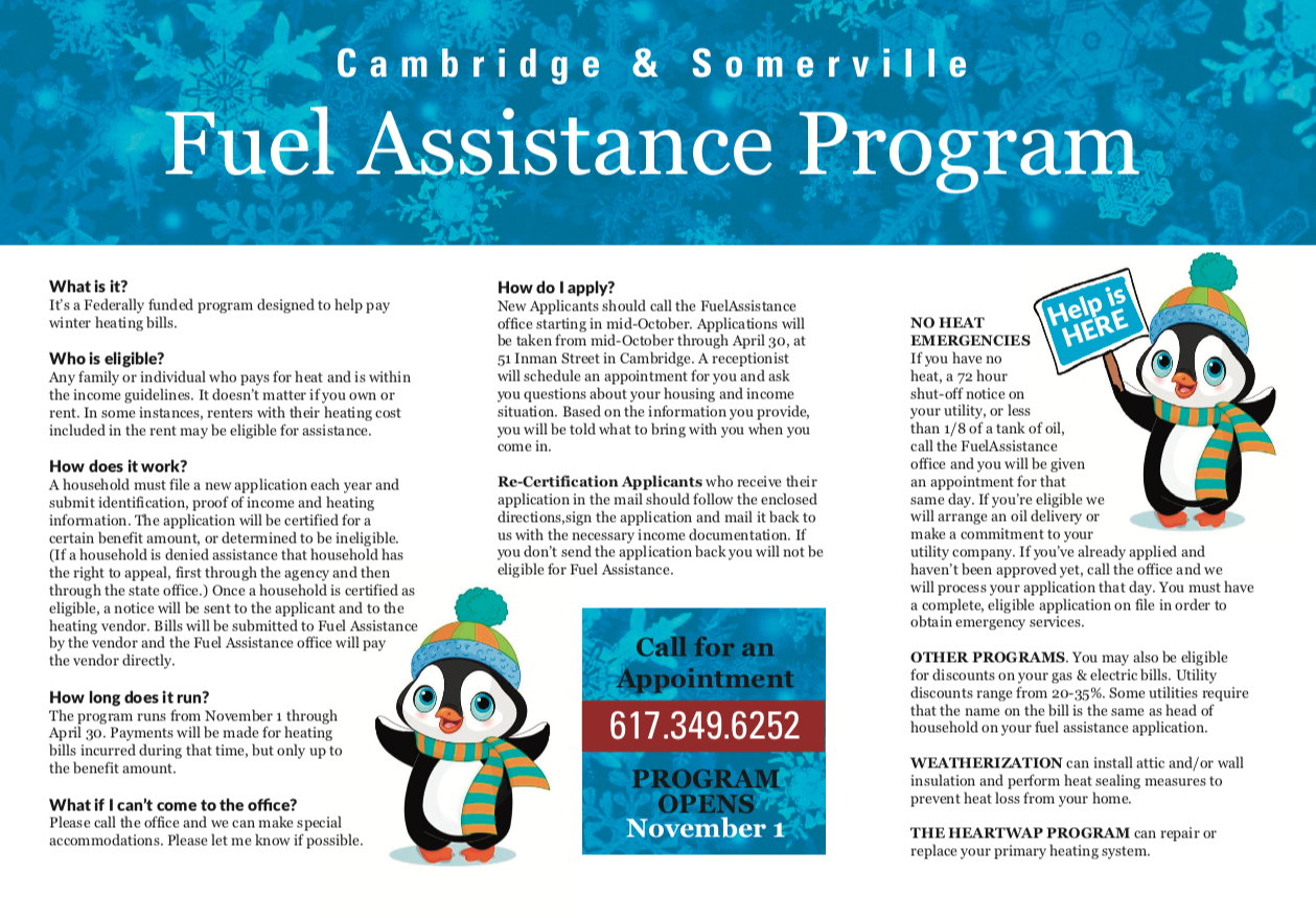 PDF preview links to fuel assistance flyer