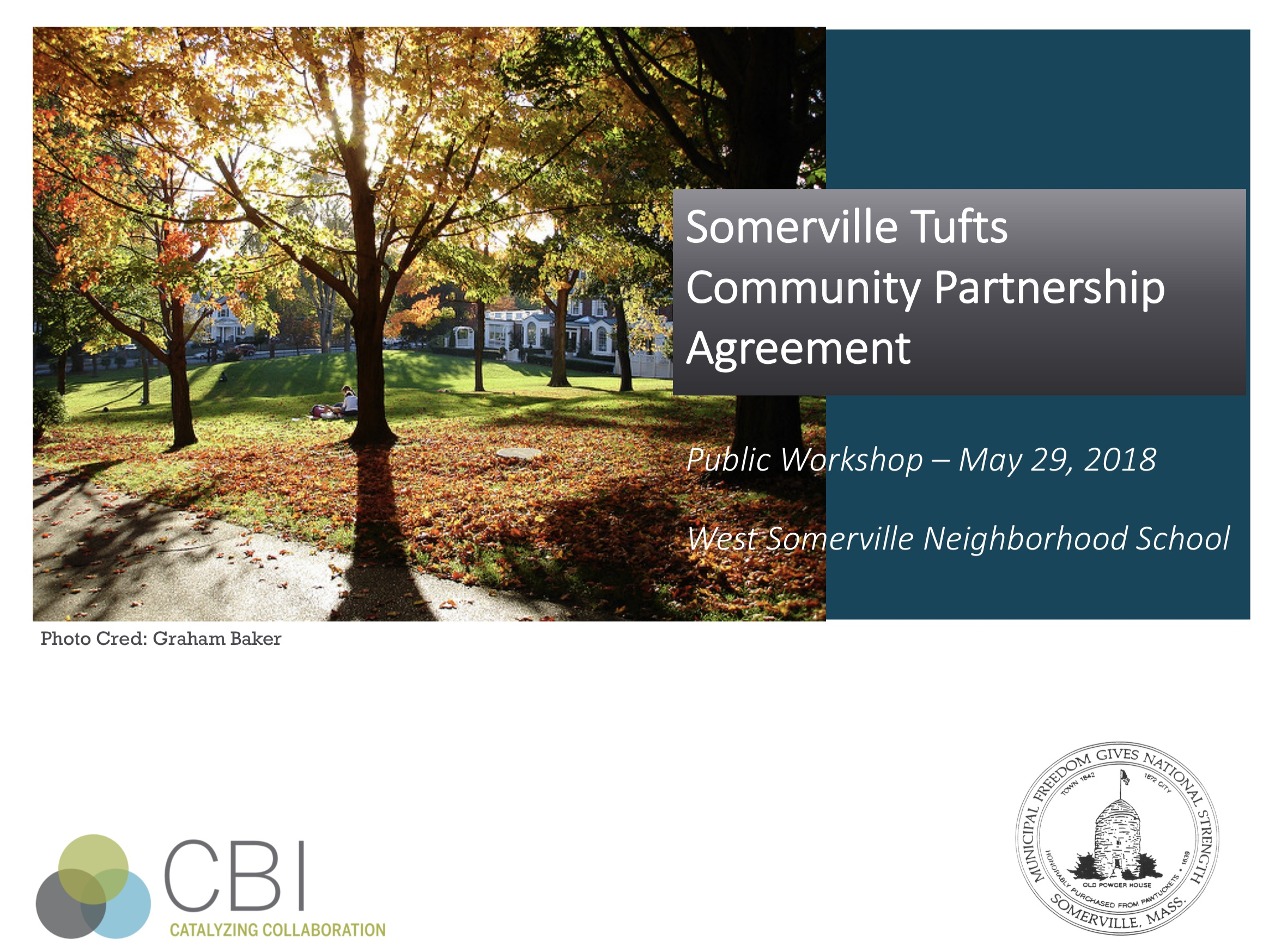 PDF preview links to Somerville-Tufts Partnership Agreement meeting presentation