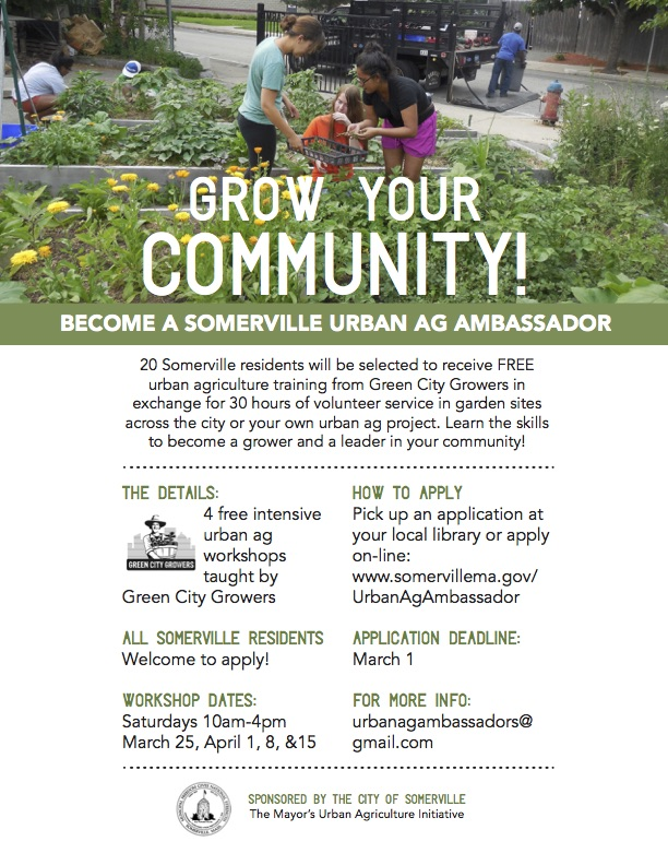 Thumbnail preview of the linked PDF of urban agriculture workshop information