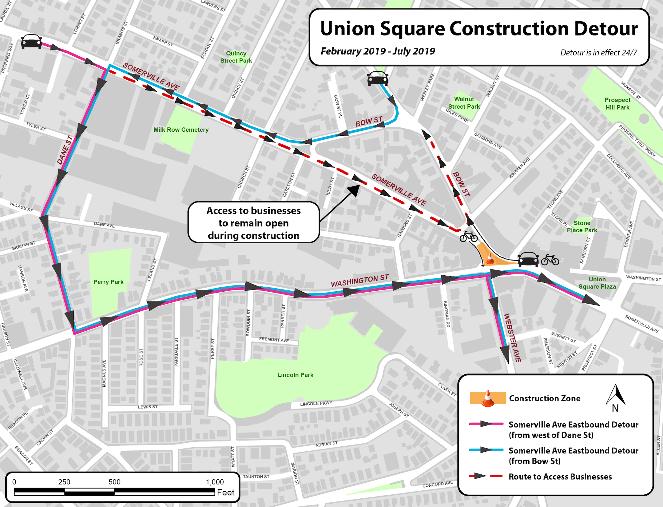 USQ construction bus relocations (refer to linked PDF)